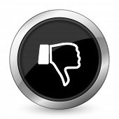 picture of dislike  - dislike black icon thumb down sign  - JPG