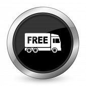 image of free-trade  - free delivery black icon transport sign  - JPG