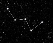 pic of starry  - constellation Cassiopeia against the starry sky - JPG