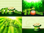 stock photo of leprechaun hat  - vector creative set of st - JPG