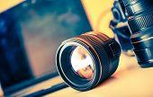 Photographer Desk Lenses poster