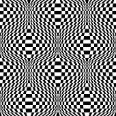 stock photo of distortion  - Design seamless monochrome checkered background - JPG