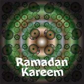 foto of arabic calligraphy  - Calligraphy of Arabic text of Ramadan Kareem for the celebration of Muslim community festival in green - JPG
