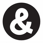 pic of ampersand  - A vector icon of an ampersand symbol - JPG