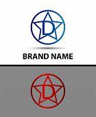 stock photo of letter d  - Vector elegant alphabet star element Letter d - JPG