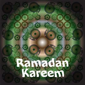 stock photo of ramadan calligraphy  - Calligraphy of Arabic text of Ramadan Kareem for the celebration of Muslim community festival in green - JPG