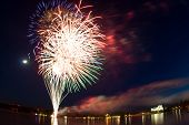 picture of tatas  - Fireworks over Tata - JPG