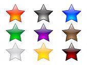 Постер, плакат: Блестящие звезды кнопки