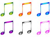 stock photo of musical note  - Shiny musical notes vector illustration - JPG