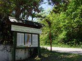 Landmark, Clue, Signpost Of National Park Galicica,Macedonia poster