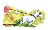 Постер, плакат: Женщина и собака бык собака породы терьер
