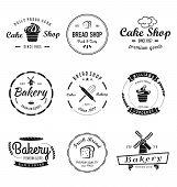 Bakery & Cakes Vintage Logo. Vintage Bakery Logo poster