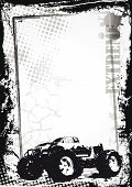 image of monster-truck  - Grunge sport background with monster truck abstract background - JPG