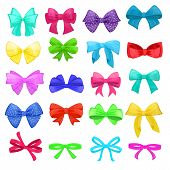 Bow Vector Cartoon Bowknot Or Ribbon For Decorating Gifts On Christmas Or Birtrhday Party Illustrati poster