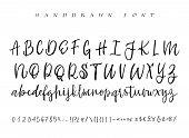 Modern Calligraphy Vintage Handwritten Vector Font For Lettering.trendy Retro Calligraphy Script. poster