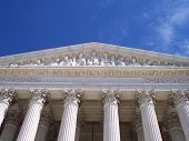 image of supreme court  - the majestic entranceway to the supreme court - JPG