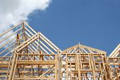 stock photo of 2x4  - Frame of a new home - JPG