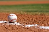 picture of infield  - Baseball on the field with room for copy - JPG