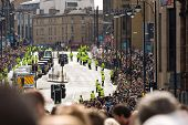 EDINBURGH, SCOTLAND, UK - SEPTEMBER 16: Pope Benedict XVI in his popemobile travels through Lothian
