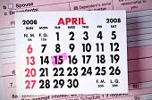 stock photo of lien  - Calendar with U - JPG