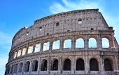 Colosseum With Blue Sky And Clouds In Rome,italy - Europe.colosseum Ancient Is Arena Of Gladiator Fi poster