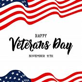 Happy Veterans Day Hand Lettering. . November 11th, United State Of America, U.s.a Veterans Day Desi poster