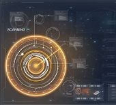 Radar Screen. Abstract Future Technology Concept Background, Vector Illustration. Future Technology  poster