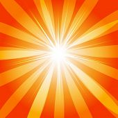 Abstract orange motion background - vector
