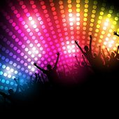 pic of rave  - EPS10 Party People Vector Background  - JPG