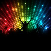 image of rave  - EPS10 Party People Vector Background  - JPG