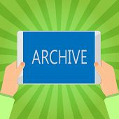 Handwriting Text Writing Archive. Concept Meaning Collection Historical Documents Records Providing  poster
