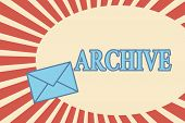 Handwriting Text Archive. Concept Meaning Collection Historical Documents Records Providing Informat poster