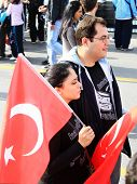 Couple with Turkish Flag