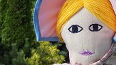 picture of nursery rhyme  - Giant rag doll  of Little Bo Peep - JPG