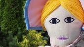 picture of nursery rhyme  - Giant rag doll  of Little Bo Peep - JPG