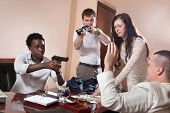 stock photo of denude  - Robbery in the mafia - JPG