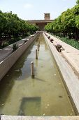 stock photo of shiraz  - Fountain in fortress Arg - JPG