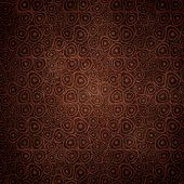 Vintage Doodle circles coffee seamless background