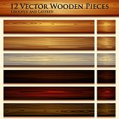 stock photo of timber  - Wooden texture seamless background illustration - JPG