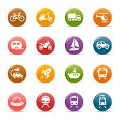stock photo of vespa  - Colored Dots  - JPG