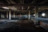 stock photo of buildings  - interior of an old abandoned building - JPG