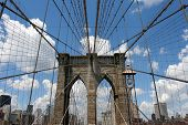 stock photo of brooklyn bridge  - one of several brooklyn bridge shots - JPG