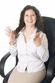Happy Businesswoman poster