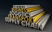 picture of supply chain  - Supply Chain Business Logistics in 3d Focus - JPG