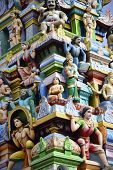 image of swami  - Beautiful sculptures at the gopuram Subramaniya swamy temple in Tiruttani - JPG