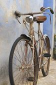 Old Bicycle Parked