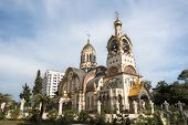 stock photo of sochi  - Church of the Holy Prince Vladimir on Mount Grapevine Russia Sochi outdoors shot - JPG
