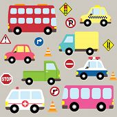 picture of animated cartoon  - Cute Vehicles - JPG
