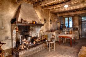 image of farmhouse  - old times farmhouse  - JPG