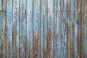stock photo of driftwood fence  - old blue wood wall texture and background - JPG